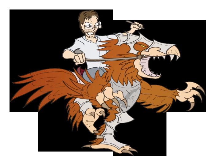 Just Joriss riding a mutated raven demon